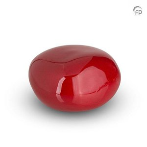 Urnenatelier Schoonhoven KK 003 Pebble brillo rojo