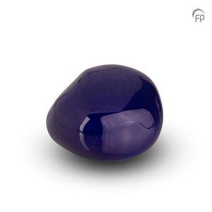 Urnenatelier Schoonhoven KK 009 Pebble brillo azul oscuro