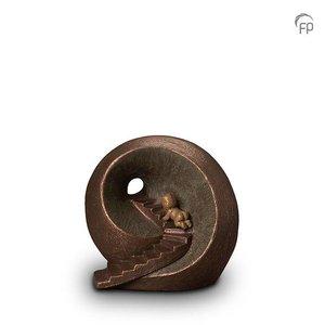 Geert Kunen  UGK 010 A Keramische urn brons Oneindige tunnel