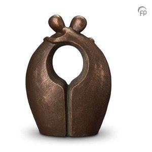 Geert Kunen  UGK 014 D Duo ceramic urn bronze