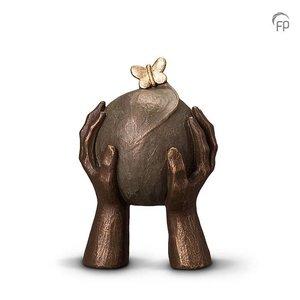 Geert Kunen  UGK 033 A Urna de cerámica bronce