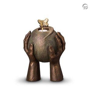 Geert Kunen  UGK 033 AT Keramische urn brons Metamorfose (waxine)