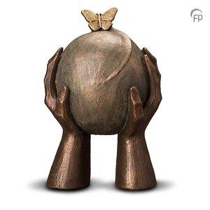Geert Kunen  UGK 033 B Keramische urn brons Metamorfose