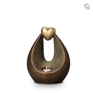 Geert Kunen  UGK 035 AT Ceramic urn bronze