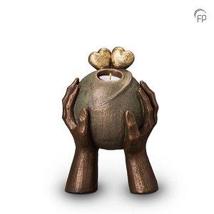 Geert Kunen  UGK 036 AT Keramische urn brons Liefde (waxine)