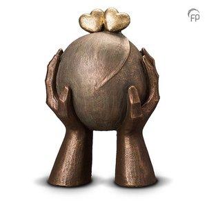 Geert Kunen  UGK 036 B Keramische urn brons Liefde