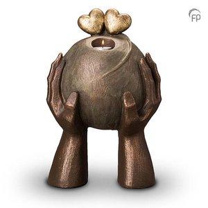 Geert Kunen  UGK 036 BT Keramische urn brons Liefde (waxine)