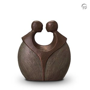 Geert Kunen  UGK 038 A Keramische urn brons Voor altijd samen