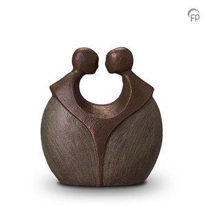 Geert Kunen  UGK 038 A Urna de cerámica bronce