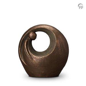 Geert Kunen  UGK 039 B Keramische urn brons Eenzaam, maar niet alleen