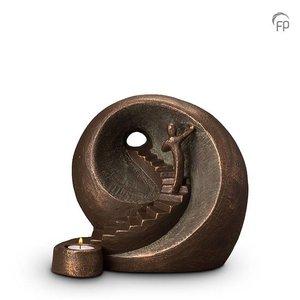 Geert Kunen  UGK 041 BT Keramische urn brons Naar het licht (waxine)
