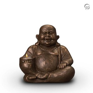 Geert Kunen  UGK 042 AT Keramische urn brons Boeddha (waxine)