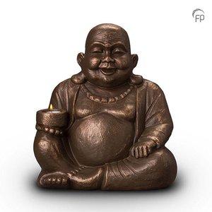 Geert Kunen  UGK 042 BT Keramische urn brons Boeddha (waxine)