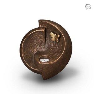 Geert Kunen  UGK 048 AT Urna de cerámica bronce
