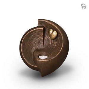 Geert Kunen  UGK 051 AT Urna de cerámica bronce