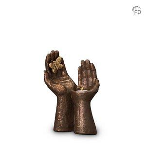 Geert Kunen  UGK 053 AT Keramische urn brons Vrij als een vlinder (waxine)