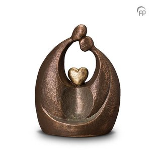 Geert Kunen  UGK 061 B Keramische urn brons Eeuwige liefde
