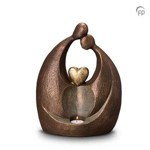 Geert Kunen  UGK 061 BT Keramische urn brons Eeuwige liefde (waxine)