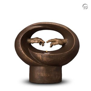 Geert Kunen  UGK 068 BT Keramische urn brons Michelangelo (waxine)