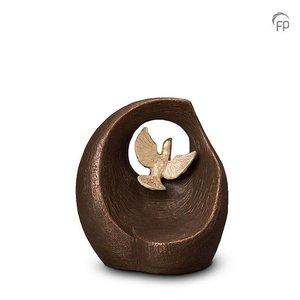 Geert Kunen  UGK 069 A Keramische urn brons Vlucht in het oneindige