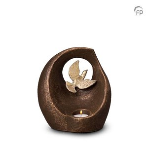 Geert Kunen  UGK 069 AT Ceramic urn bronze