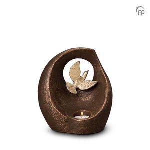 Geert Kunen  UGK 069 AT Keramische urn brons Vlucht in het oneindige (waxine)