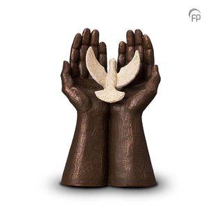 Geert Kunen  UGK 072 A Keramische urn brons Vrijheid