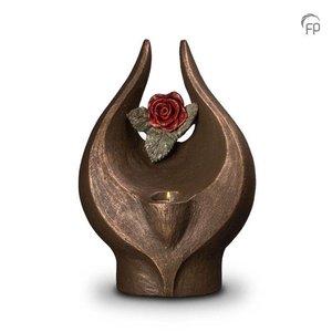 Geert Kunen  UGK 077 BT Keramische urn brons Geen rode roos zonder doorn (waxine)