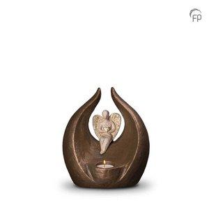 Geert Kunen  UGK 303 AT Keramische urn brons Beschermengeltje (waxine)
