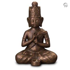 Geert Kunen  UGK 302 BT Keramische urn brons Boeddha Dai Nichi (waxine)
