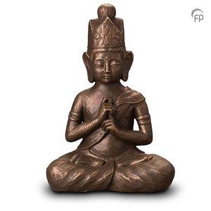 Geert Kunen  UGK 302 B Keramische urn brons Boeddha Dai Nichi
