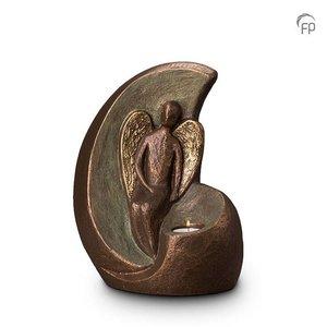 Geert Kunen  UGK 301 BT Keramische urn brons Geborgen engel (waxine)