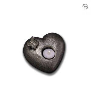 Geert Kunen  UGKS 001 AT Keramische urn zilver Tederheid (waxine)