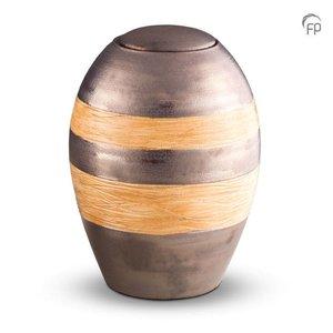 Pottery Bonny KU 307 Keramische urn metallic