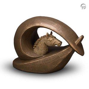 Geert Kunen  UGK 250 Keramik Tierurne Bronze - Pferd
