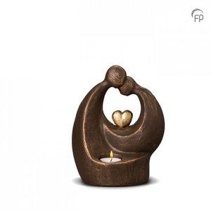 Geert Kunen  UGK 045 AT Keramische urn brons Verlichte troost (waxine)
