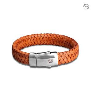 FPU 601 Embrace Pulsera cuero trenzado marrón