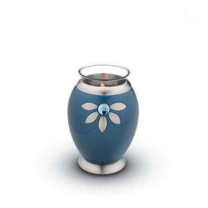 CHK 271 Brass candle holder Nirvana Azure