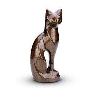 HU 192 Brass pet urn cat brown