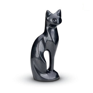 HU 192 Brass pet urn cat black