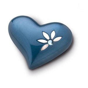 HUH 271 relicario de latón corazón Nirvana Azure
