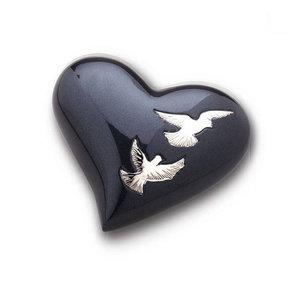 HUH 270 relicario de latón corazón Nirvana Adieu