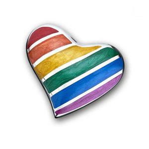 HUH 222 relicario de latón corazón Pride