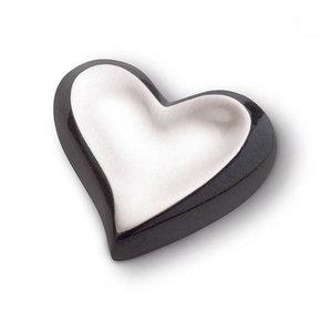 HUH 025 Messing Mini-Urne Herz