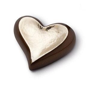HUH 023 Messing Mini-Urne Herz