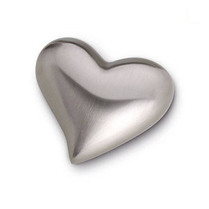 HUH 022 Messing Mini-Urne Herz