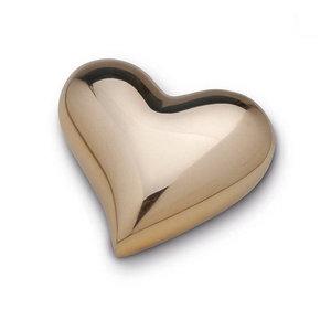 HUH 021 S Brass keepsake heart