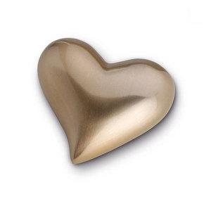 HUH 021 Messing Mini-Urne Herz