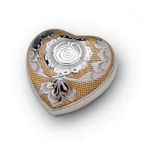 HUH 004 Messing Mini-Urne Herz