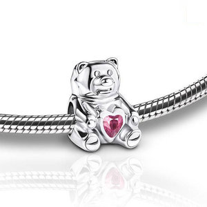 BCB 001 Ash jewellery bead Cuddle Bear